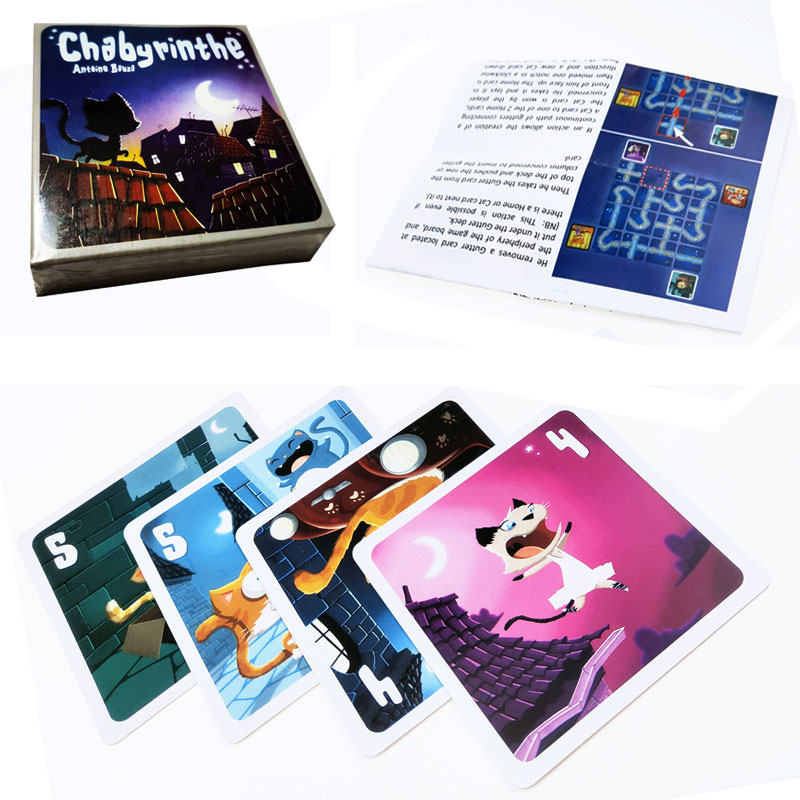 Hot Sale Chabyrinthe Board Game Full English Version For Home Party Adult Financing Family Playing Cards Game 43 Cards