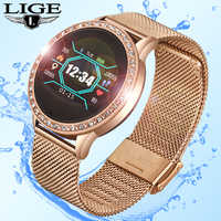 LIGE, умные часы для женщин, кровяное давление, пульсометр, фитнес-трекер, спортивный смарт-браслет, будильник, напоминание, умный Браслет