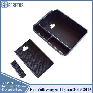 Image 5 - Armrest Glove Storage Box For Volkswagen VW Tiguan 2009 2010 2011 2012 2013 2014 2015 Tiguan Accessories MK1 Console Organizer