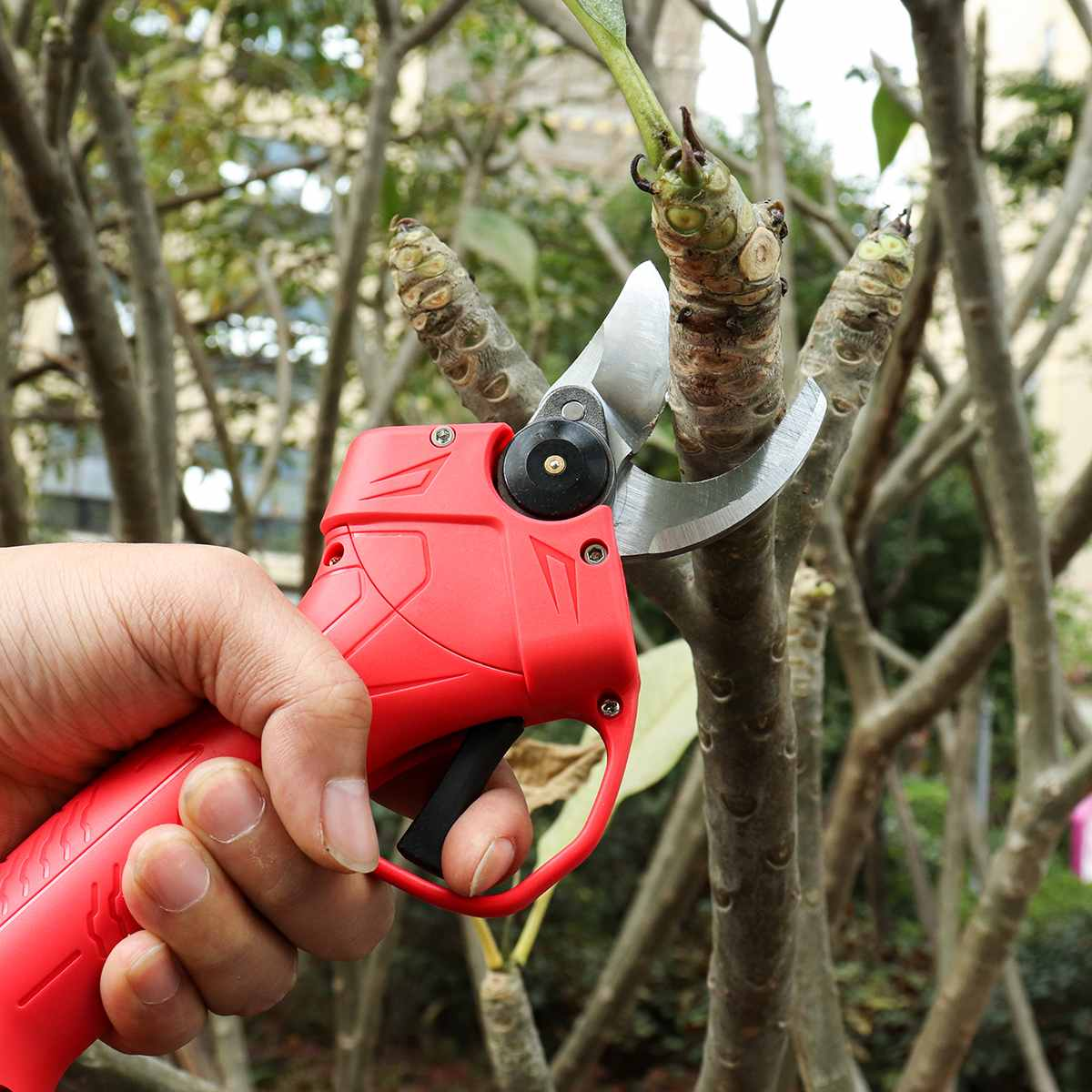 Wireless 16.8V 25mm Electric Garden Scissor for Brach Pruning with Li-ion Battery and USB Charger 16