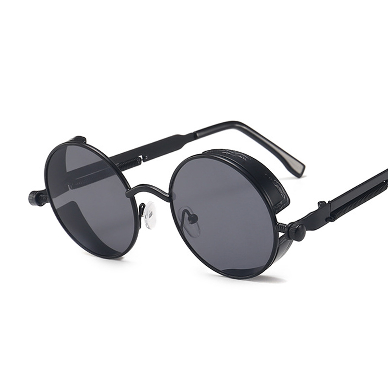 Classic Gothic Steampunk Sunglasses Women Brand Designer Vintage Round Metal Frame Sun Glasses Female Male High Quality UV400 Men