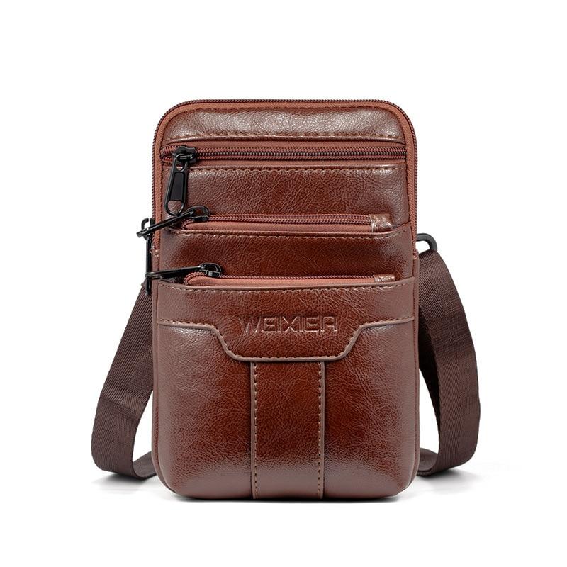 Men's Bag Shoulder Bag Waist Bag Small Diagonal Bag Storage Document Bag Sports Leisure Multifunctional Mobile Phone Bag