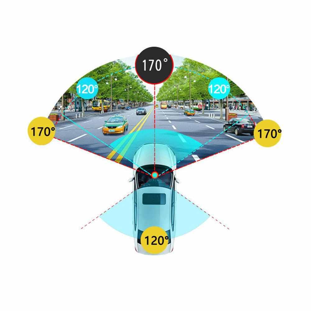 3,5 pulgadas dash coche DVR espejo coche Dvr cámara HD 1080P espejo de visión trasera grabadora de vídeo Digital lente Dual auto Dash Cam