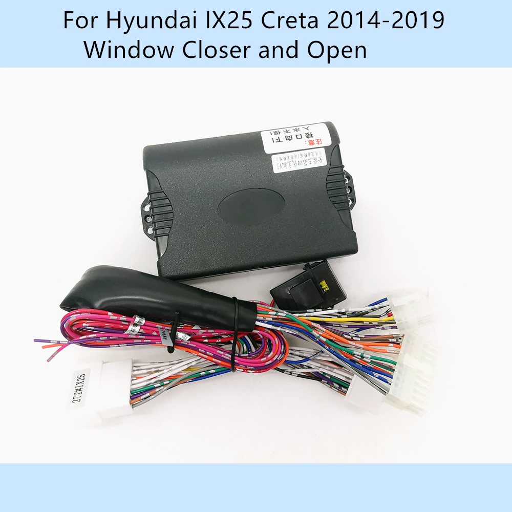 Car Automatically 4 Door Window Closer Closing Open Kit For Hyundai IX25 Creta 2014-2019