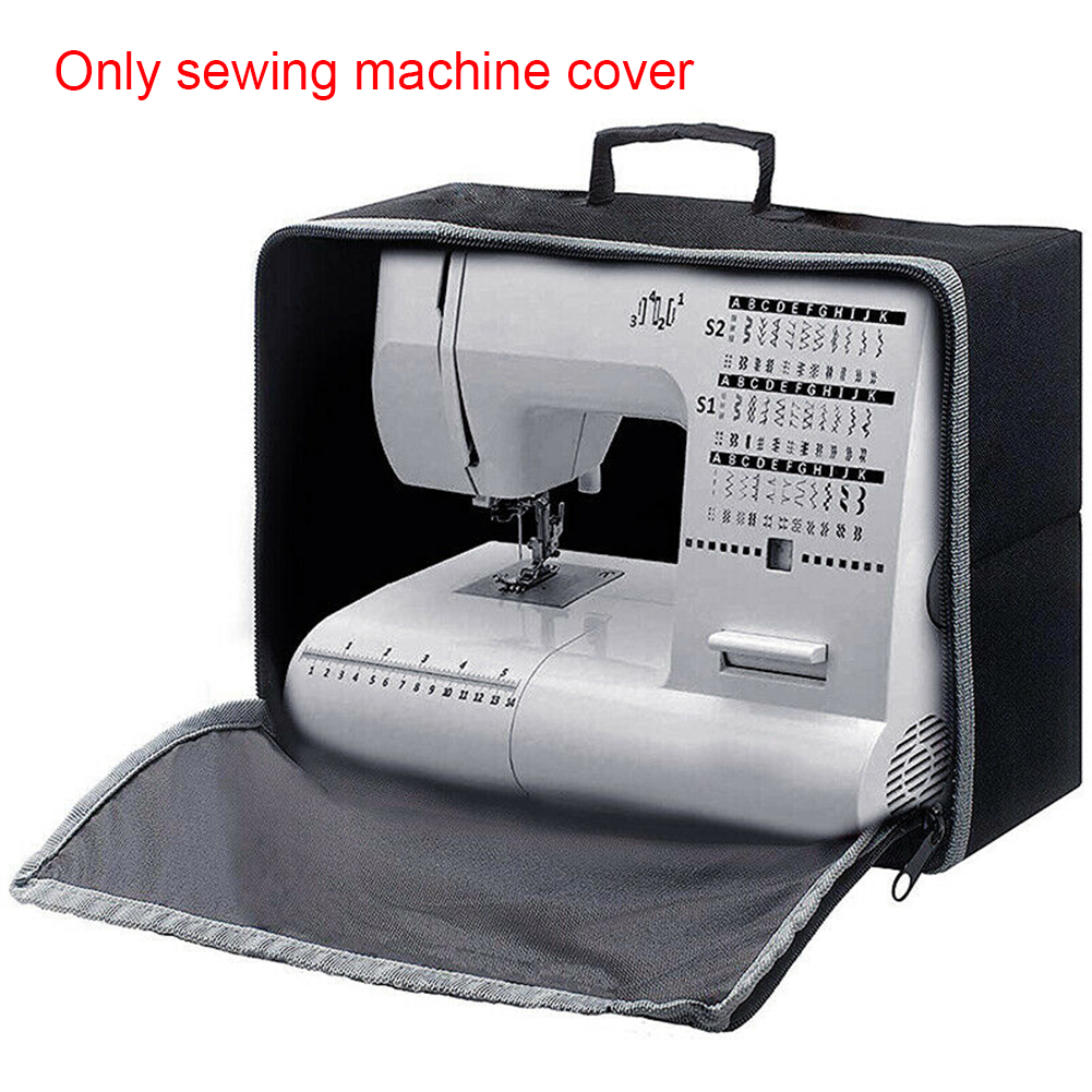Universal Protective Dust Proof Tote Bag Oxford Cloth Travel Top Handle Sewing Machine Cover Storage Organizer Zipper Closure