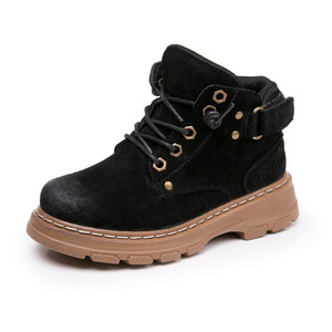 Image 3 - childrens Winter Boots For Boys 2019 Genuine Leather Kids Sneakers Toddler Girl Winter Shoes Fashion Plush Warm Martin Boots