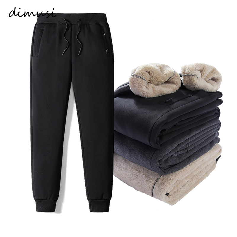 DIMUSI Mens Joggers Pants Fitness Men Thick Fleece Sportswear Tracksuit Bottoms Skinny Sweatpants Trousers Gyms Track Pants 7XL