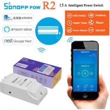 купить Sonoff Pow R2, 15A Power Energy Meter Monitor Wireless WiFi Switch with Timing Sharing Function Remote Control Smart Home Module по цене 911.19 рублей