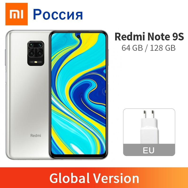 Глобальная версия Xiaomi Redmi Note 9S 9 S 6 ГБ 128 ГБ/4 ГБ 64 Гб Смартфон Snapdragon 720 Octa Core 48MP AI четыре камеры 5020 мАч