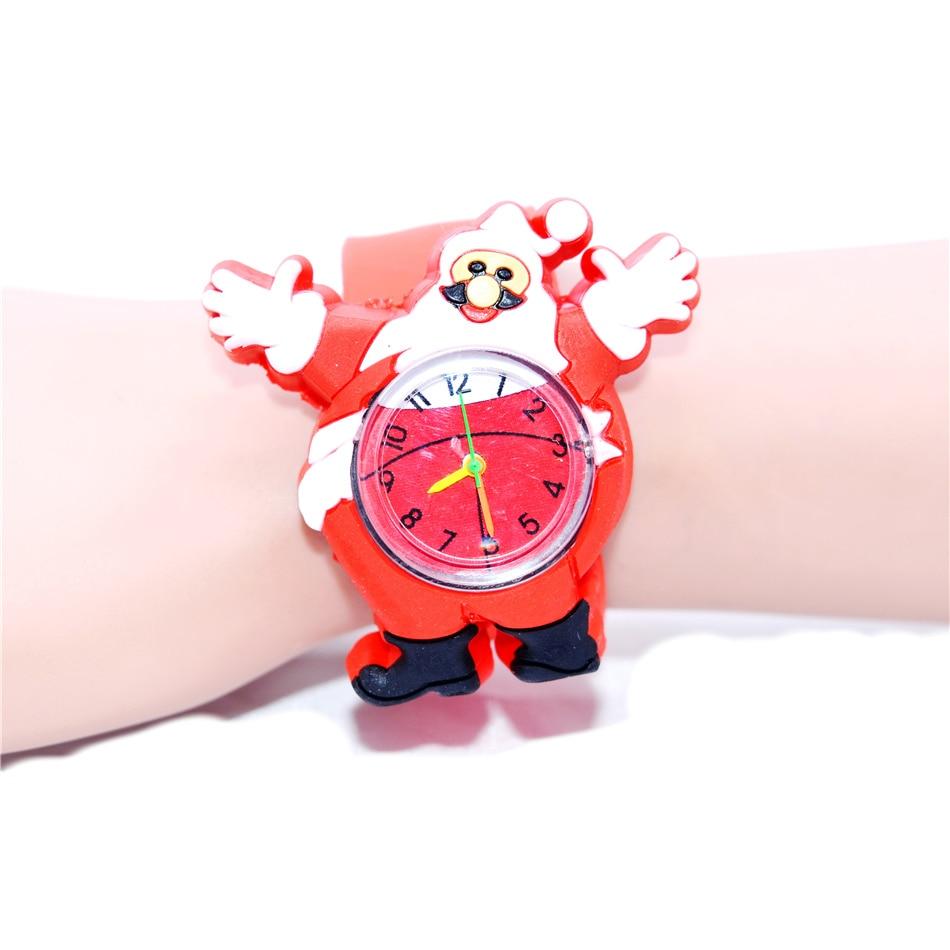 Christmas Gift Kids Watches Santa Claus Saint Nick Kris Kringle Father Christmas Design Quartz Watch For Kid Children Boys Girls