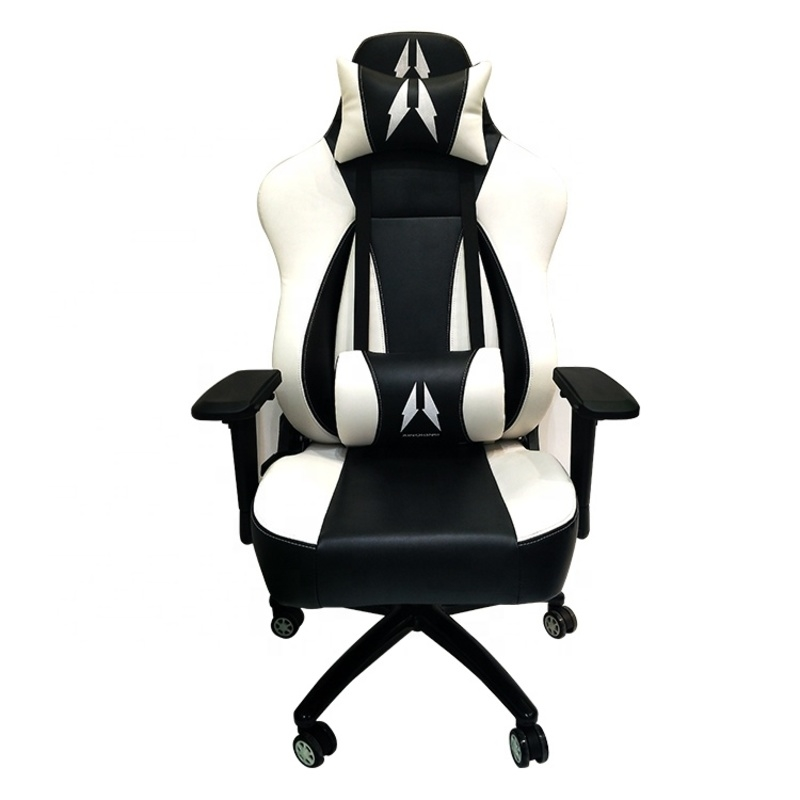 Thick Cushion PU Leather Adjustable Indoor Gaming Chair Long Sessions Game Durable Rocker Chair Ergonomic Executive With Lumbar