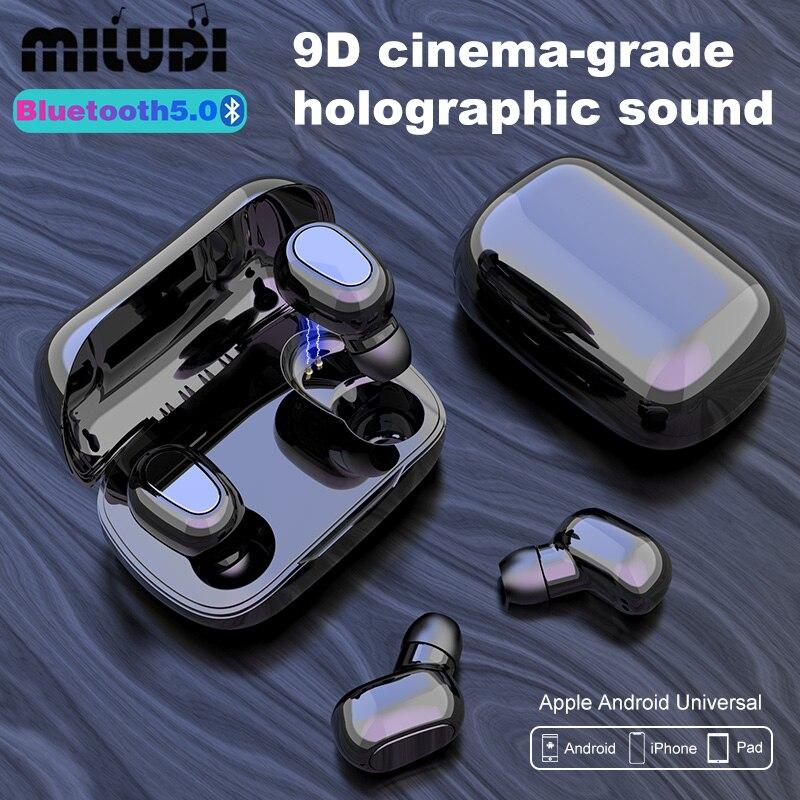 Беспроводные наушники L21 TWS Bluetooth 5,0, бизнес-гарнитура, музыкальные наушники IPX7, водонепроницаемые спортивные наушники, работает на всех смар...