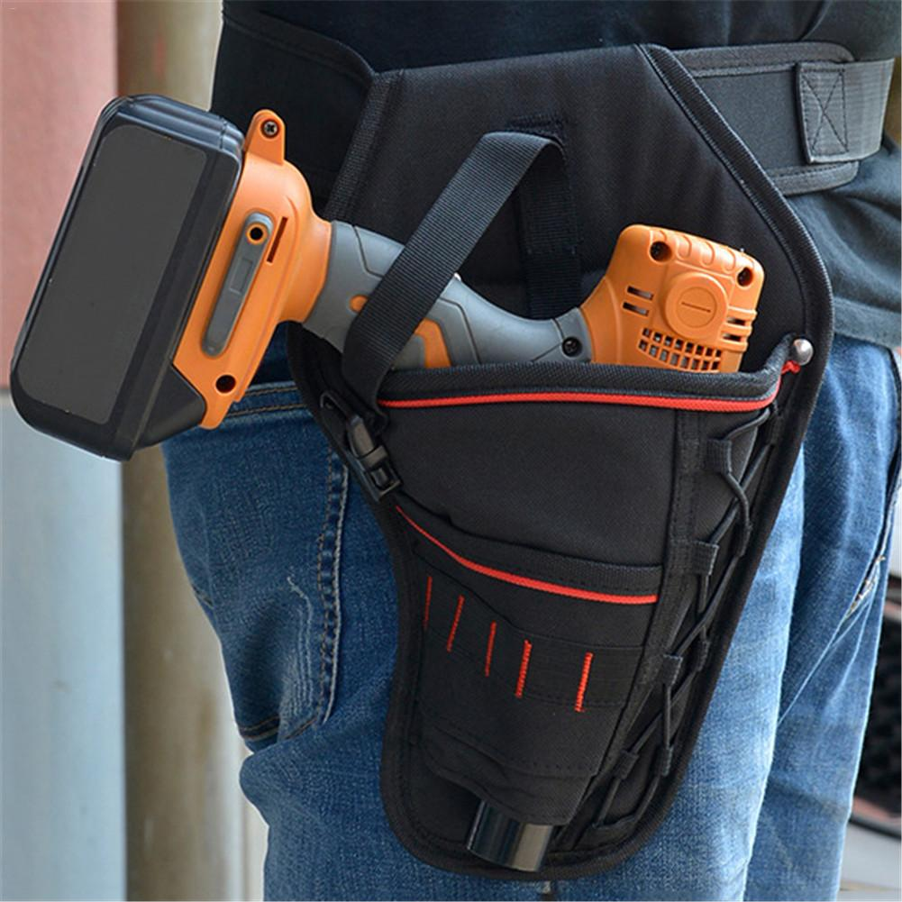 Electric Hand Drill Impact Wrench Universal Multi-function Electric Wrench Pockets Electrician Tool Belt Oxford Fabric Pouch