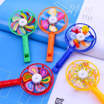 5Pcs KIds Windmill Whistle Toy Children Coloful Windmill Whistle Musical Developmental Toy Party Props