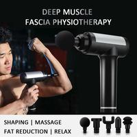 5 Heads Muscle Massage Gun 30 Speeds Percussive Vibration Therapy Deep Tissue Massager Relax Pain Relief Fascia Massage Machine