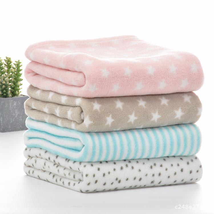 Baby Blankets Newborn Cartoon Soft Comfortable Blanket Coral Fleece Bebe Swaddle Wrap Baby Stroller Bedding Cover Blankets