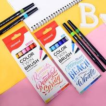 6 цветов Корейская одноцветная двойная ручка с двумя наконечниками
