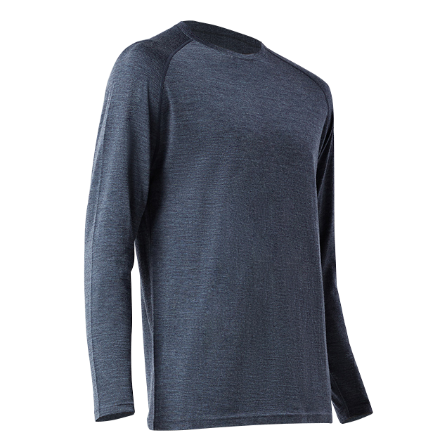 Men 100% Merino Wool Sport T Shirt Jersey Base Layer Long Sleeve Midweight Top Out Door Warm Thermal Clothes Shirt