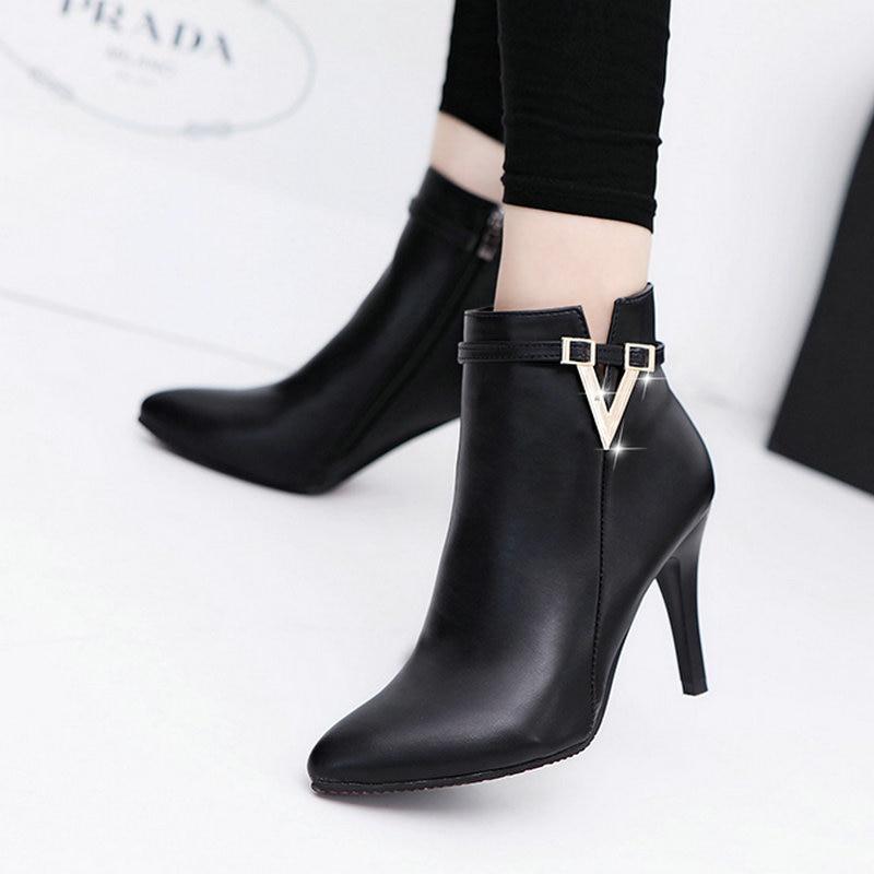 Stiefel Damen Boots Elegant Stiefel Freizeitschuhe Mode