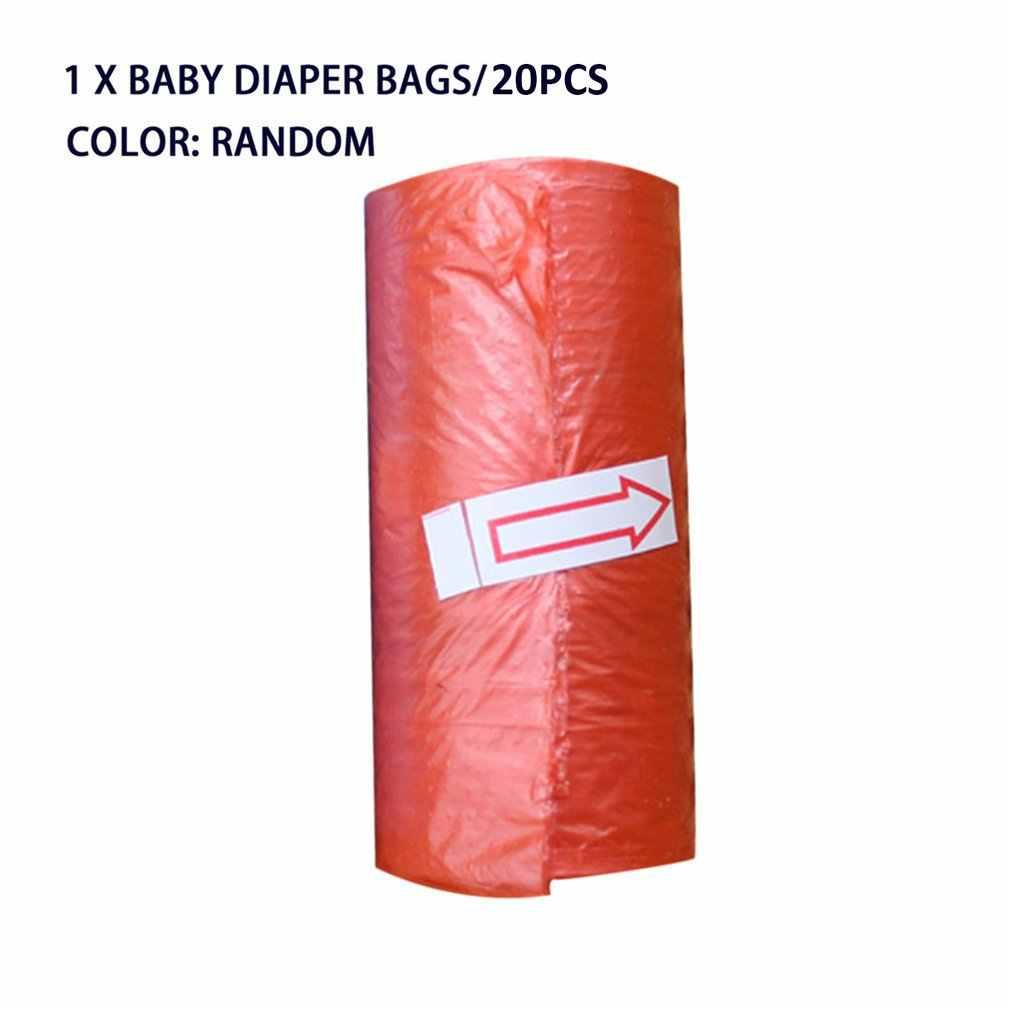 Kaldırma kutusu bez çanta taşınabilir bebek bezi terk edilmiş torbaları çöp torbaları kılıfı Pet çöp torbası bebek bakımı için renk rastgele