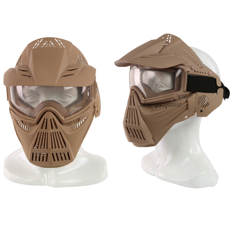Outdoor Hunting CS Wargame Breathable Mask Full Face Anti-fog Lens Military Tactical Mask For Airsoft Shooting Paintball