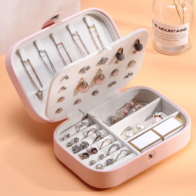 Fashion Makeup Organizers Women Travel Necklace Earrings Rings Collection Book Jewelry Display Box Wholesale Accessories Case
