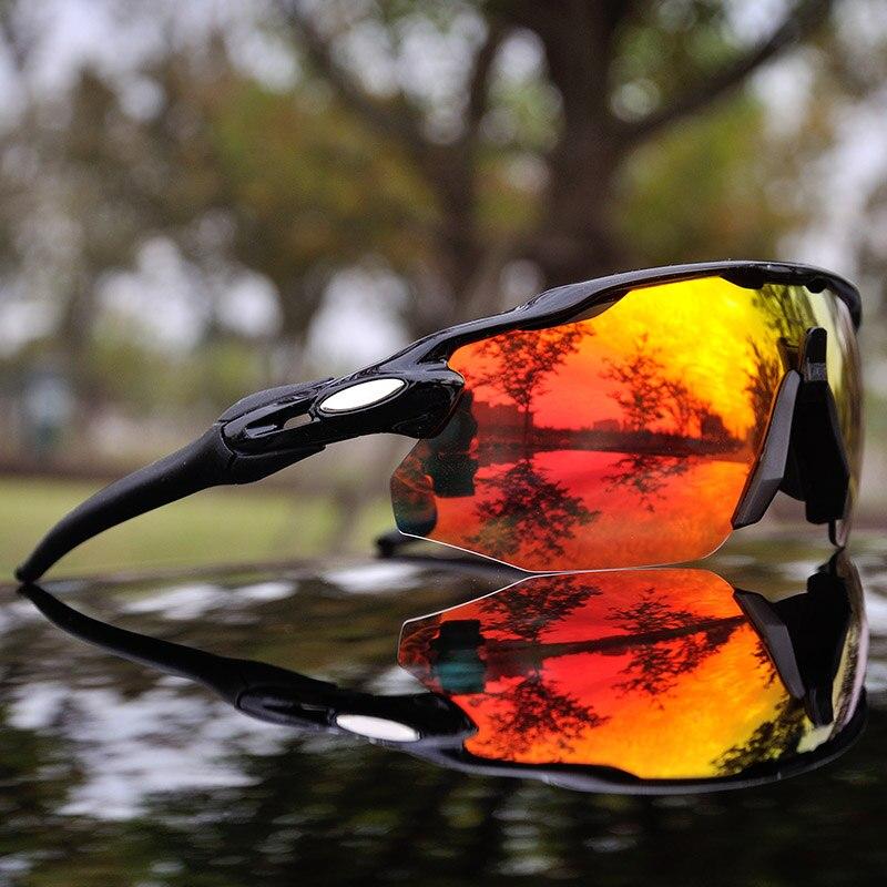 4 レンズ男性偏サイクリングゴーグル TR90 サイクリングメガネ UV400 屋外スポーツサイクリングアイウェアバイクサングラス -