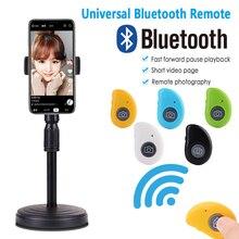Kablosuz Bluetooth zamanlayıcı selfie sopa deklanşör kablosuz uzaktan kumanda IOS Android için