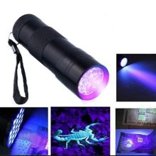 9 LED Purple UV Flashlight Aluminum Flashlight Supermarket Gift Fluorescent Light Drop Shipping Wholesale Supplier Sale