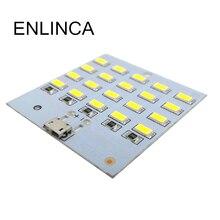 USB Light 5730 smd 5V 430mA~470mA White  Mirco Usb 5730 20 LED lighting panel USB mobile light Emergency night light