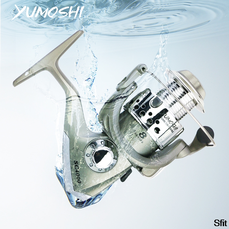 SFIT Fishing Reel All Metal Spool Spinning Reel 8KG Max Drag Stainless Steel Handle Line Spool Saltwater Fishing Accessories Fishing Reels     - title=