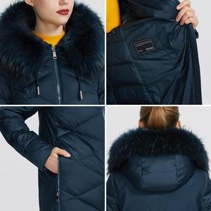 Image 5 - MIEGOFCE 2019 Новая зимняя женская коллекция курток куртка женская зимняя необычайный дизайн имеется капюшон с мехом длина до колена теплая женская куртка биопух сохраняет тепло и придает легкость