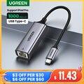 UGREEN USB C Ethernet Netzwerk Adapter USB zu RJ45 USB Ethernet Adapter für Laptop Macbook Samsung S20 USB Ethernet Netzwerk karte