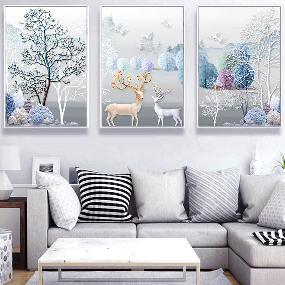 Relief three-dimensional decorative painting mural hanging painting decorative painting room decoration painting core