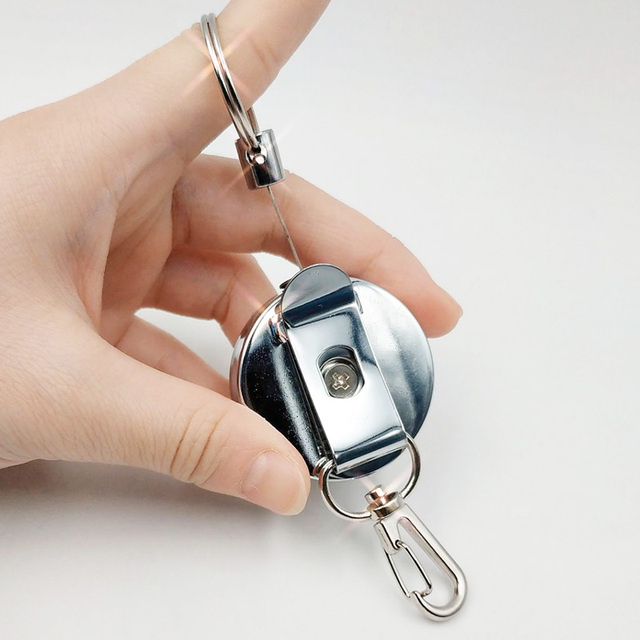 Resilience Steel Wire Rope Elastic Keychain Sporty Retractable Alarm Key chain Anti-lost telescopic  5