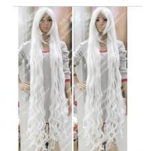 01301@ Q8@ Cos парик 150 см Белый стрейч длинные вьющиеся волосы Цзянь