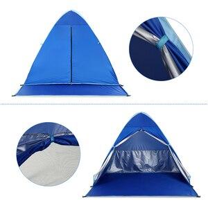 Image 5 - KEUMER 1 2 kişi açık plaj çadırı Pop up açık kamp balıkçı çadırı taşınabilir su geçirmez UV koruyucu çadır barınak