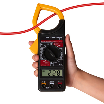 цена на 266X Digital Clamp Ammeter Full Automatic AC-DC Ammeter With Buzzer Digital Clamp Meter Auto Measurement Clamp Meter