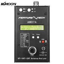 AW07A HF/VHF/UHF 160M Impedância SWR Antenna Analyzer Medidor para Ham Radio Amadores DIY
