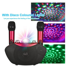 Y 8 Wireless Microphone Bluetooth Speaker  Outdoor Family Karaoke Stereo MIC With LED Flash Neon Light Playing Music Family KTV