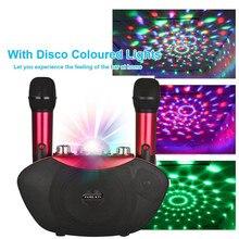 Micrófono inalámbrico de Y-8, Altavoz Bluetooth, micrófono estéreo de Karaoke familiar para exteriores con luz LED de neón para reproducir música, KTV familiar