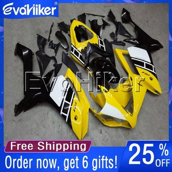 Custom motorcycle cowl for YZF-R1 2007-2008 07 08 ABS fairing Injection mold yellow +gifts