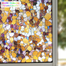 3D Stone Privacy Window Film Decorative Static Cling Anti UV Glass Stickers Self Adhesive Heat Control Cover