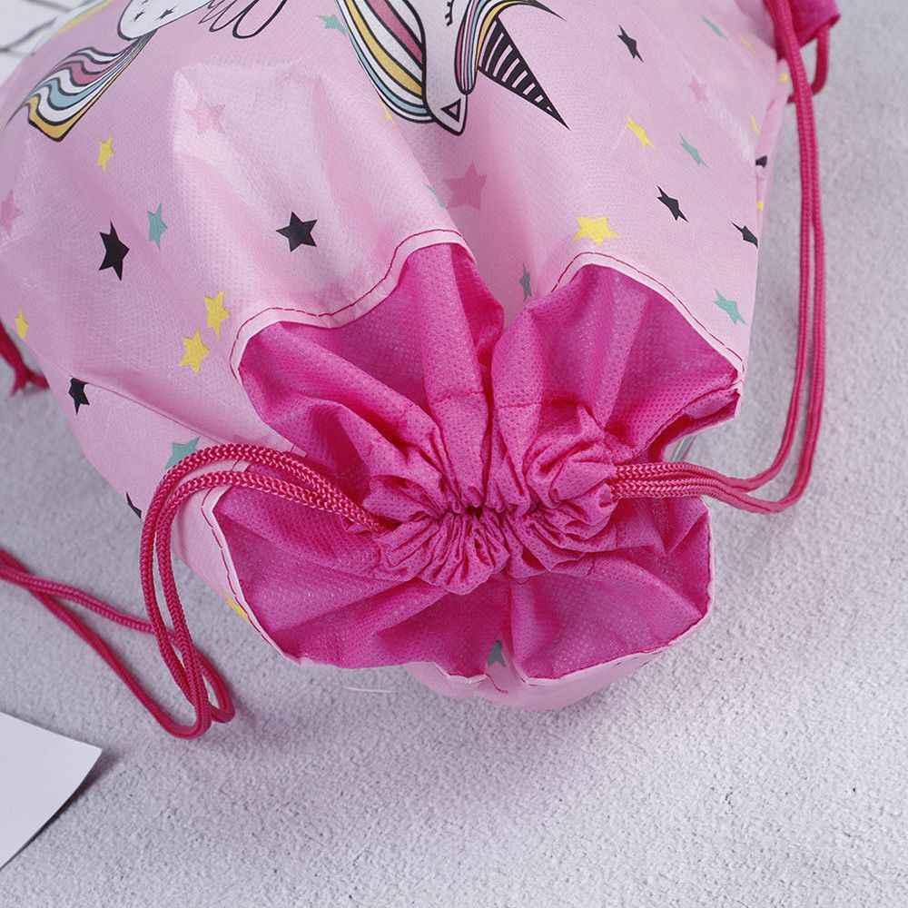 Hot Sale Unicorn Drawstring bag for Girls Travel Storage Package Cartoon School Backpacks Children Birthday Party Favors