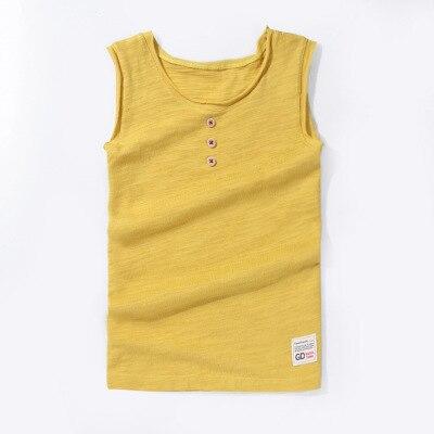 VIDMID New Baby Children vests summer boys Girls tanks sleeveless t-shirt Cotton solid tanks kids boys  beach clothes 7010 07 4