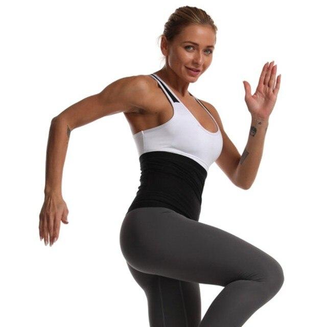 Men Women Sweat Waist Belt Neoprene Lumbar Waist Trimmer Belt Weight Loss Sweat Band Wrap Fat Tummy Stomach Sauna Sweat Belt. 4