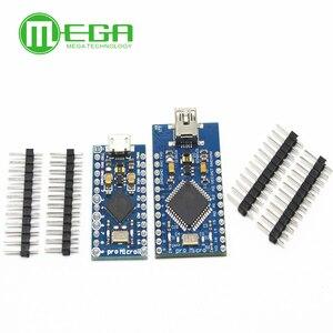 Image 1 - 5 pièces Pro Micro ATmega32U4 5V/16MHz Module avec 2 rangées de broches en tête MINI USB MICRO USB pour Arduino