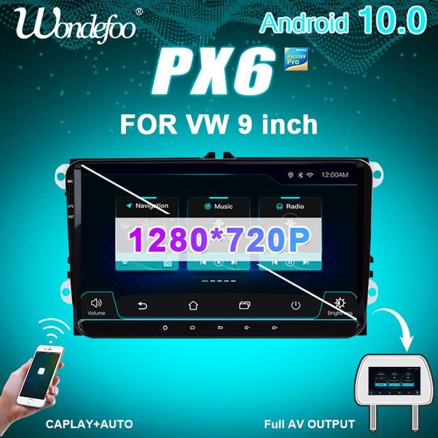 PX6 2 דין אנדרואיד 10 רכב רדיו עבור סיאט אלטאה טולדו פולקסווגן גולף 5/6 פולו פאסאט B6 CC Tiguan 2din אוטומטי אודיו סטריאו ניווט