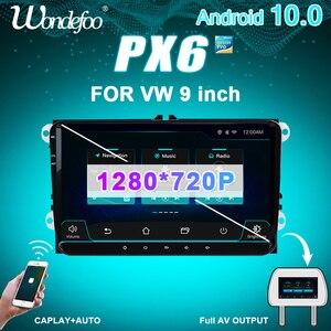 Image 1 - PX6 2 DIN Android 10 Auto Radio für Seat Altea Toledo VW GOLF 5/6 Polo Passat B6 CC Tiguan 2din auto audio stereo navigation