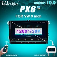 PX6 2 DIN Android 10 Radio samochodowe do siedzenia Altea Toledo VW GOLF 5/6 Polo Passat B6 CC Tiguan 2din auto audio nawigacja stereo